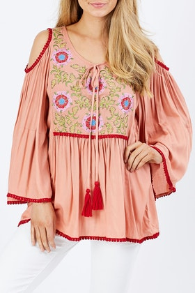 Naudic Embroidery Festival Top