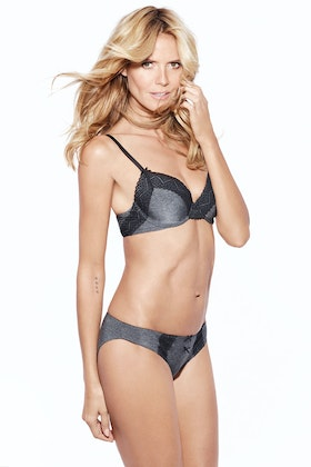 Heidi Klum Intimates Marl With Lace Bikini Brief