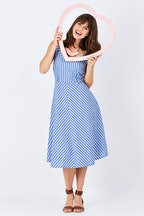 handpicked by birds Chambray Stripe Dress