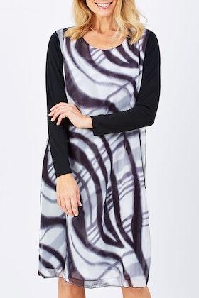 Hammock & Vine Ls Check Print Dress
