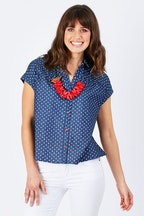 handpicked by birds Buttoned Top