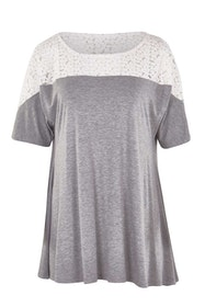 Belle Lace Trim Tee