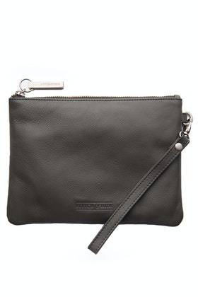 Stitch and Hide Cassie Leather Clutch Bag