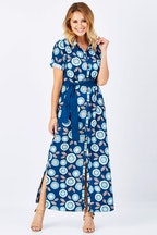 that bird label Seanna Shirt Dress Flamenco