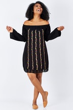Sass Mishalia Embroidered Dress