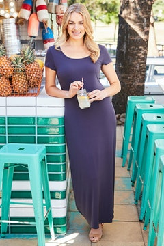 The Cap Sleeve Maxi Dress