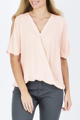 bird keepers The Cut Out Shoulder Blouse