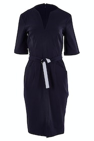 Fitted Dress Belted 3/4 Sleeve