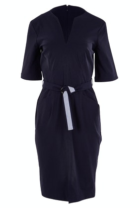 Sacha Drake Fitted Dress Belted 3/4 Sleeve