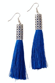 Allegra Silver Tassel Earrings