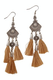 Sahana Silver Tassel Earrings