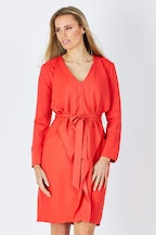 Wite Trench Drape Dress