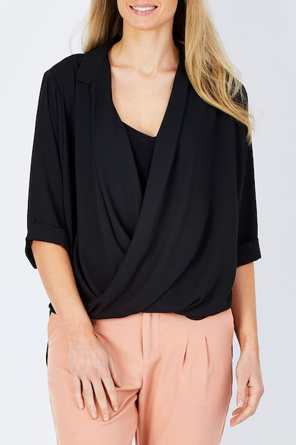 9b6263767b bird keepers The Cross Over Blouse - Womens Blouses at Birdsnest Fashion