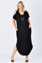 bird keepers The Short Shoulder Splice Maxi Dress