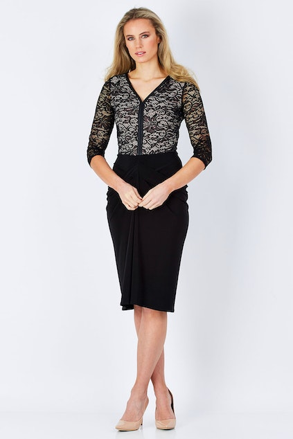 Leina Broughton Seduction Lace Dress Womens Knee Length Dresses At