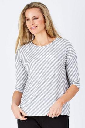 Tirelli Oblique Stripe Jersey Top