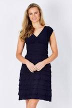 Sacha Drake V-neck Ruffle Dress