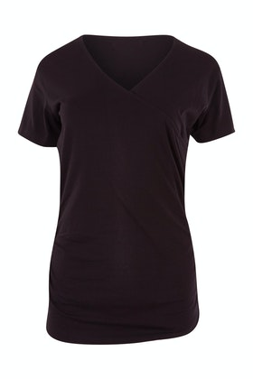 bird keepers The Short Sleeve Wrap Jersey Top