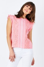 handpicked by birds Printed Lace Top