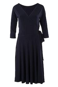 Reverse Wrap Full Skirt Dress