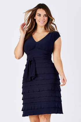 Sacha Drake V-neck Ruffle Dress
