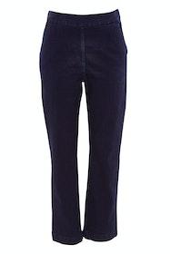 Trimmed Wide Leg Jean