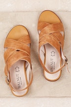 Walnut Como Leather Sandal