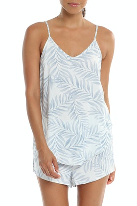Papinelle Silver Palms Cami And Boxer Set