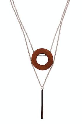 365 Days Hollow Circle Woodland Necklace