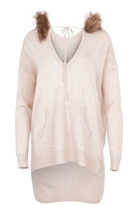 Jump Fur Trim Sweater