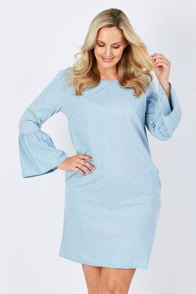 See Saw Ruffle Sleeve Dress