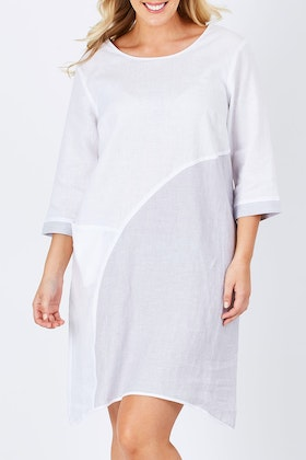 See Saw 3/4 Sleeve Spliced Dress