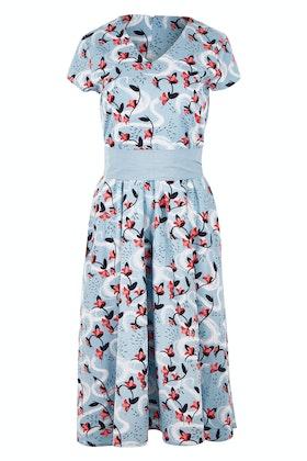 that bird label Jacqueline Flare Dress Azalea