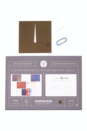 Hammered Leatherworks Leather Flip A Roo Wallet Stitch Your Own Kit