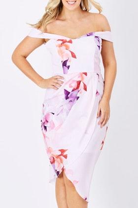 3rd Love Spritz Off The Shoulder Dress