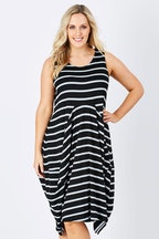 bird keepers The Sleeveless Stripe Tulip Dress