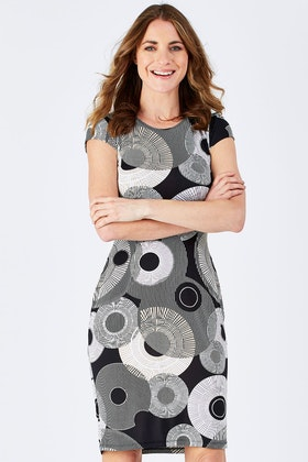 Rebecca Ruby Lexus Print Dress