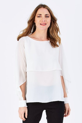 Wite Butterfly Blouse
