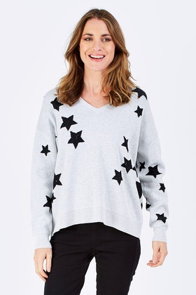 Imonni Miquel Sequin Star Knit