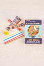 IS Gifts Soaring Straws Construction Planes Kit