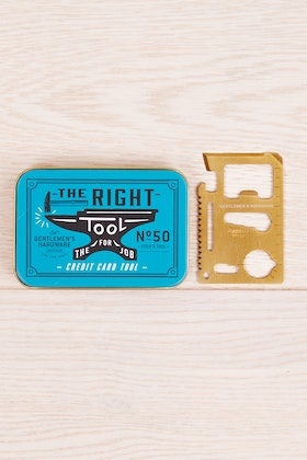 Wild & Wolf Gentlemen's Hardware The Right Tool- Credit Card Tool