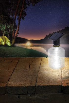 IS Gifts Solar Powered Bottle Light