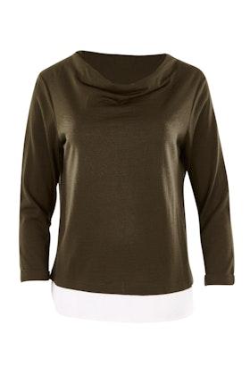 Merino Essentials Merino Wool Top With Bamboo Trim