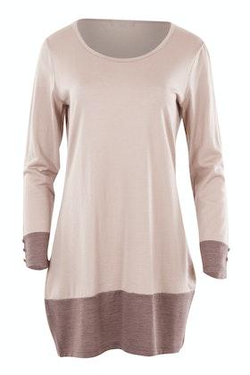 Merino Essentials Contrast Panel Merino Wool Top