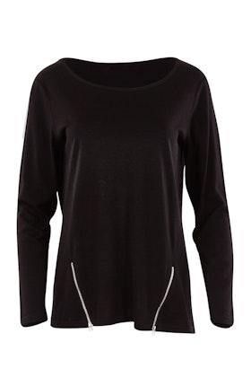 Merino Essentials Merino Wool Top With Zips