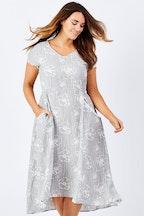 Gordon Smith Silver Print Dress
