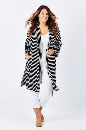 Under The Covers By Threadz Jersey Sleep Stripe Cardigan