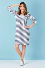 bird keepers The 3/4 Sleeve Stripe Dress