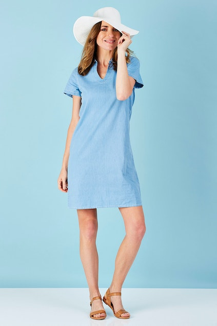 2b93fe7ef10 Womens Clothing Dresses Knee Length Dresses. Loading image gallery. Watch  Video. Watch Video
