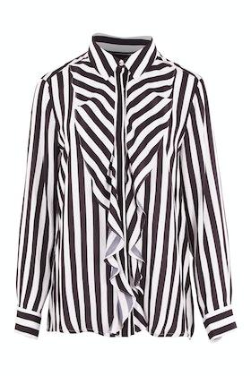 Hammock & Vine Stripe Ruffle Blouse